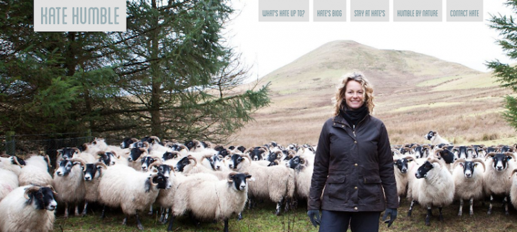 Kate Humble website home page small