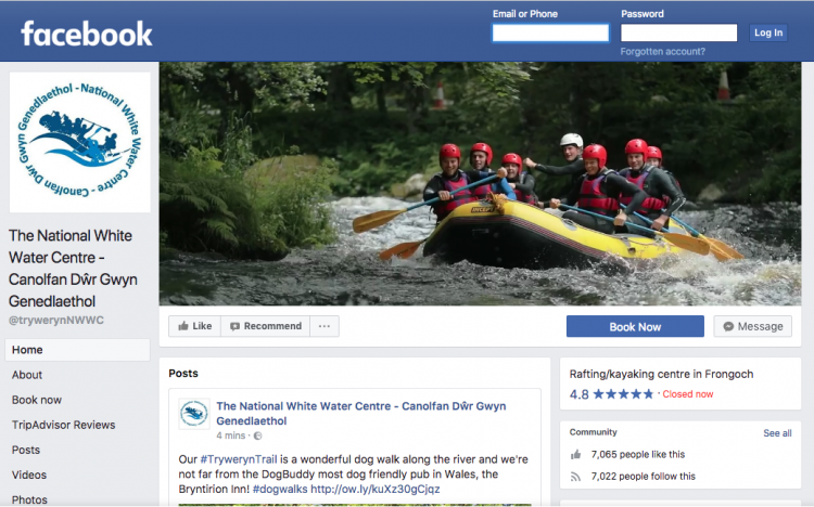 National White Water Centre Facebook