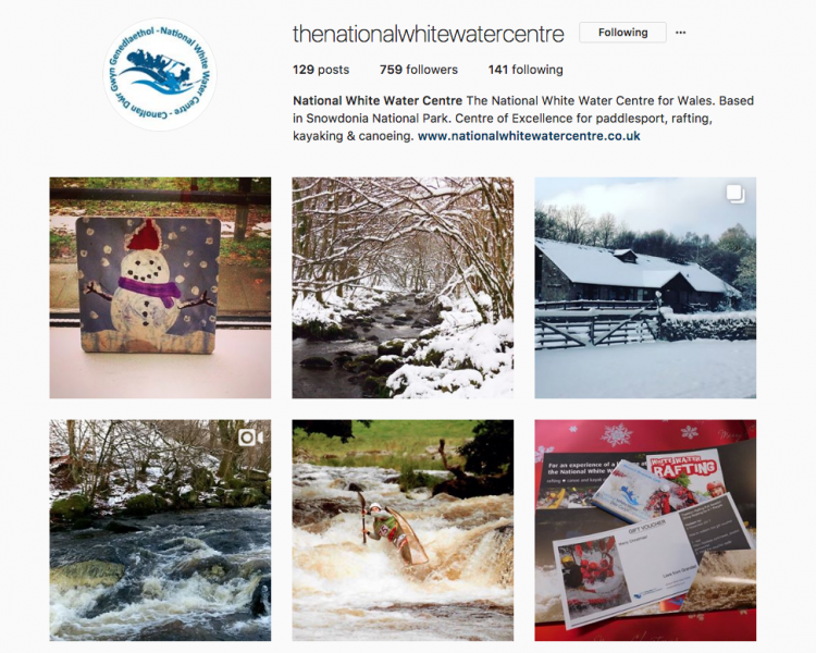 National White Water Centre Instagram