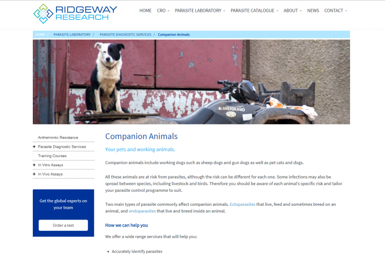 Ridgeway Research Companion Animals