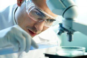 Scientific Experiment with male scientist